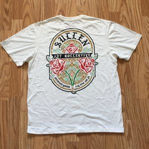 Other - NWT SULLEN ART WHITE POCKET ROSE T-SHIRT SZ L
